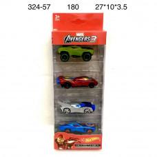 324-57 Модельки Супергерои 4 шт. в наборе, 180 шт в кор.