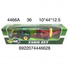 4466A Трактор с прицепом, 36 шт. в кор.