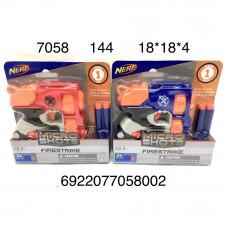 7058 Пистолет с мягкими пулями, 144 шт. в кор.