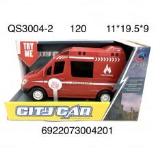 QS3004-2 Машина Пожарная, 120 шт. в кор.