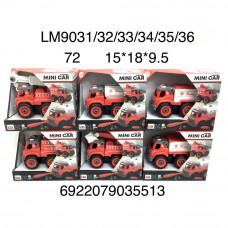 LM9031/32/33/34/35/36 Машина Пожарная конструктор с отвёрткой, 72 шт. в кор.