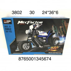 3802 Конструктор Мотоцикл 284 дет., 30 шт. в кор.