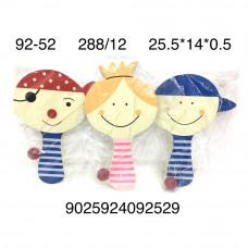 92-52 Деревянные игрушки куколки 12 шт. в блоке, 288 шт. в кор.