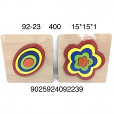 92-23 Деревянная игрушка вкладыш-сортер, 400 шт. в кор.