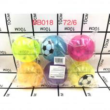 BB018 Мячик надувной 6 шт. в блоке, 72 шт. в кор.