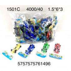 1501C Гоночные машинки 40 шт. в пакете, 100 шт. в кор.