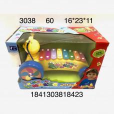 3038 Музыкальная игрушка Ксилофон 3+, 60 шт. в кор.