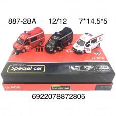 887-28A Машинка Скорая 12 шт. в блоке, 12 шт. в кор.