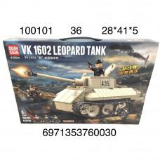 100101 Конструктор Танк 446 дет., 36 шт. в кор.