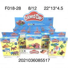 F018-28 Набор для лепки 12 шт. в блоке, 8 шт. в кор.