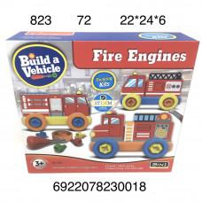 823 Пожарная машина 3в1 конструктор с отвёрткой, 72 шт. в кор.