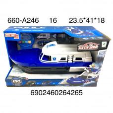 660-A246 Катер полиция (свет, звук), 16 шт. в кор.