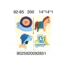 92-85 Деревянные пазлы-вкладыши, 200 шт. в кор.