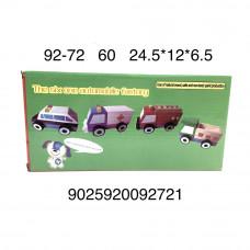 92-72 Деревянная игрушка Машинка, 60 шт. в кор.