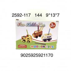 2592-117 Деревянная игрушка Машинка, 144 шт. в кор.