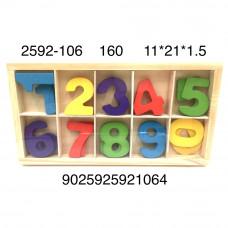 2592-106 Деревянная игрушка Цифры, 160 шт. в кор.