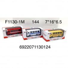 F1130-1M Автобусы модельки, 144 шт. в кор.