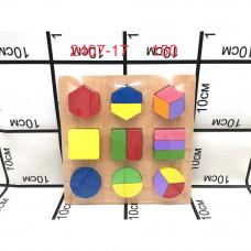 2407-17 Логические кубики (дерево), 150 шт. в кор.