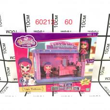 60213 Куклы с набором мебели, 60 шт. в кор.
