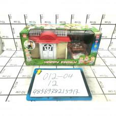Счастливая семья Домик с мебелью, 12 шт. в кор. 012-04