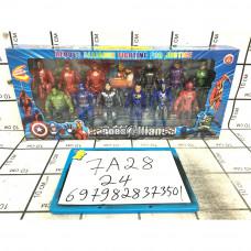 Супергерои 12 шт. в наборе, 24 шт. в кор. 7A28