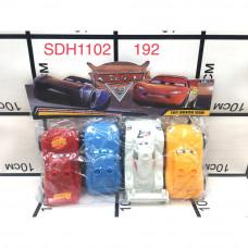SDH1102 Машинки Тачки конструктор 192 шт в кор.