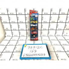 Машинки Тачки 6 шт. в наборе, 168 шт. в кор. 757-2C