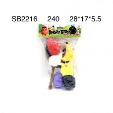 SB2216 Мультгерои Птички рогатка, 240 шт. в кор.