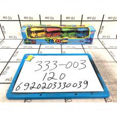 Автобус Тайо 4 шт в наборе, 120 шт в кор. 333-003