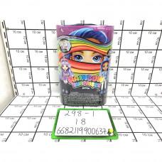 Радужный сюрприз набор с куклой 18 шт в кор. 298-1
