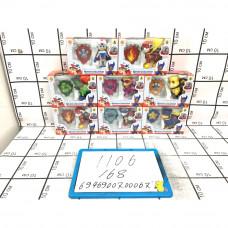 Собачки с жетонами супергерои 168 шт в кор. 1106-CH-006