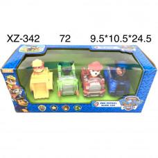 XZ-342 Собачки на машинках 4 героя, 72 шт. в кор.
