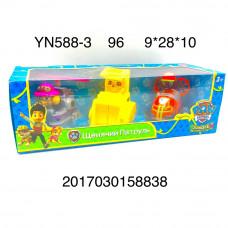 YN588-3 Собачки на машинках 3 героя, 96 шт. в кор.