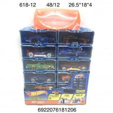 618-12 Модельки Хот Вилс в кейсе 12 шт. в наборе, 48 шт в кор.
