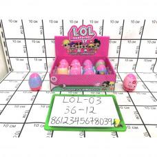 Кукла в шаре в яйце 12 шт. в блоке, 36 шт. в кор. LOL-03