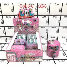 C666-6 Кукла в шаре Капсула 6 шт. в блоке, 216 шт. в кор.