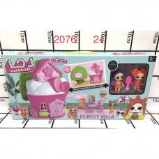 2076 Кукла в шаре Домик набор, 24 шт. в кор.