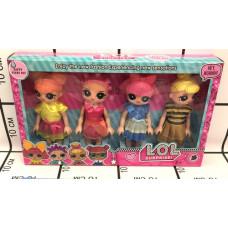 Кукла в шаре 4 шт. в наборе, 120 шт. в кор. 9295