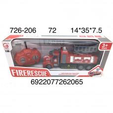 726-206 Пожарная машина на радиоуправлении 72 шт в кор.