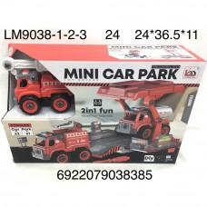 LM9038-1-2-3 Машина Пожарная с паркингом и отвёрткой, 24 шт. в кор.