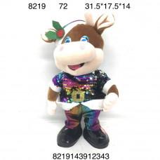 8219 Мягкая игрушка Корова, 72 шт. в кор.