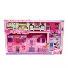 Дом для кукол с аксессуарами 12 шт в кор. 668-3C