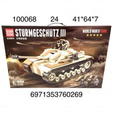 100068 Конструктор Танк 721 дет., 24 шт. в кор.