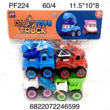 PF224 Машинки Мультяшки 4 шт. в наборе, 60 шт. в кор.
