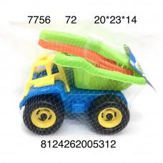 7756 Песочный набор Машинка 72 шт в кор.
