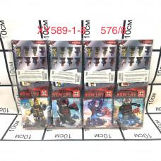 XY589-1-8 Конструктор Супергерои 8 шт. в блоке, 576 шт в кор.