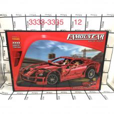3333-3335 Конструтор Автомобиль 1322 дет. 12 шт в кор.