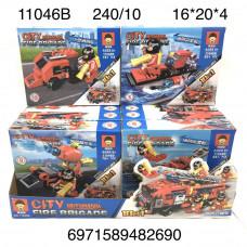 11046B Конструктор Пожарная техника 10 шт. в блоке, 24 блока. в кор.