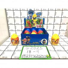 Собачки в яйце 9 шт. в блоке, 18 шт. в кор. G2025