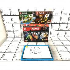 Конструктор Ниндзя 6 шт. в блоке, 432 шт. в кор. 652